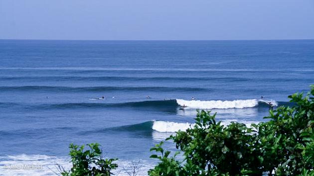 magnifiques conditions de surf au Salvador