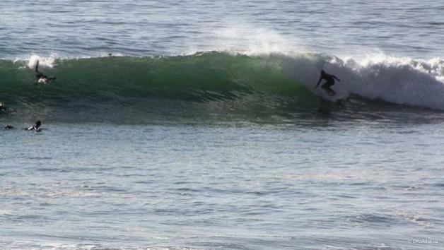 bonnes vagues dans la région d'Agadir