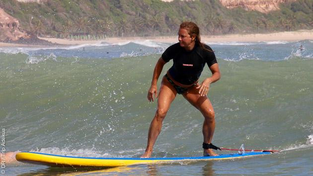 cours de surf au Brésil perfectionnement à Pipa