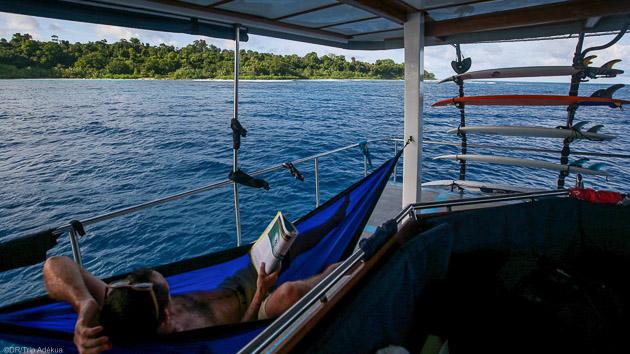 Votre bateau de croisière tout confort pour un séjour surf de rêve à Sumatra
