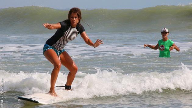 stage de surf débutant au Brésil