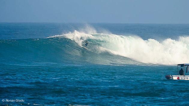 gros virage sur la vague pendant un trip au Sénégal à Ngor