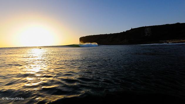 couché de soleil pendant vacances surf à Dakar (Senegal)