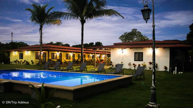 hotel face au spot de surf au panama