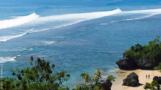 le spot de padang padang à Bali