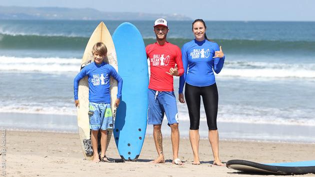 votre prof de surf francophone à Bali