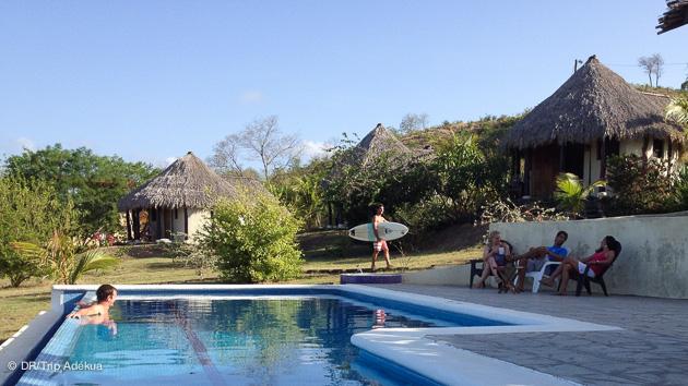votre surfcamp lodge avec piscine à Popoyo peinard