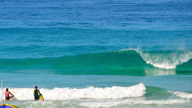 conditions parfaites pour les jeunes surfeurs