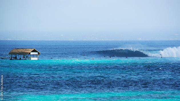 Spots sélectionnés selon votre niveau par notre moniteur pour ce séjour surf en solo à Nusa Lembongan