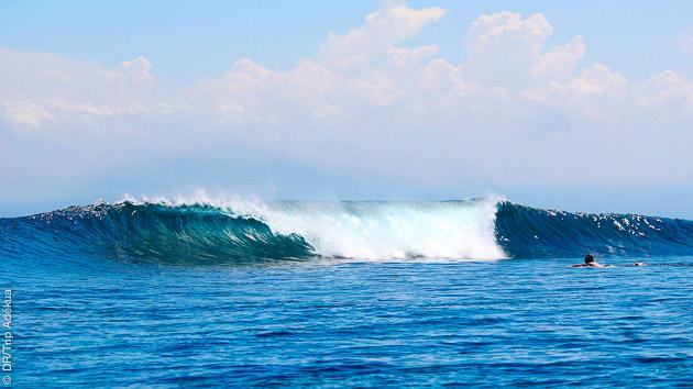 vagues parfaites de Bali