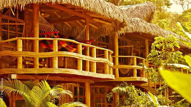Vacances surf en Equateur avec hébergement en cabane typique et en famille
