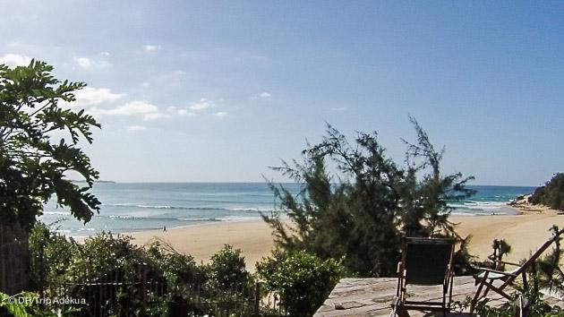 vue ipprenable sur le spot de surf depuis votre villa luxe à Tofo