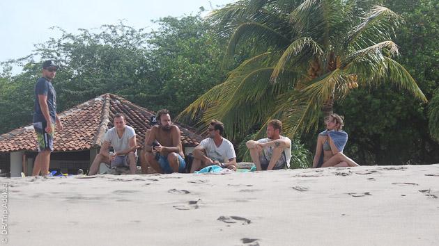 Bungalow sur le spot au surfcamp de Popoyo