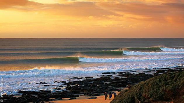 Vue direct sur le spot de Supertubes en Afrique du Sud pour ce séjour surf