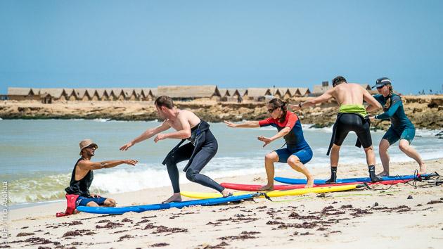 Progression assurée en surf pendant votre séjour à Dakhla, au Maroc