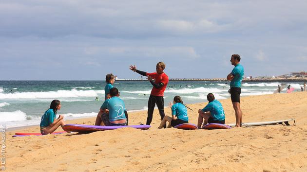 mon cours de surf à Capbreton