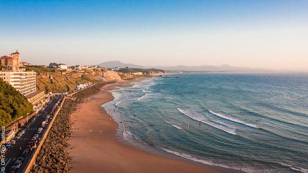 le spot de surf de la côte des Basques