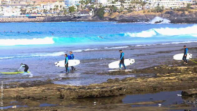 Cours initiation au surf ou perfectionnement : top vacances sur à Tenerife !