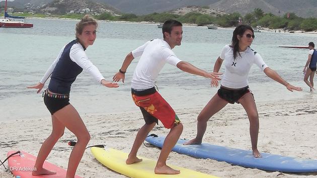 votre cours de surf à St Martin