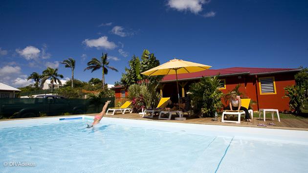 La piscine de votre surfcamp en Guadeloupe