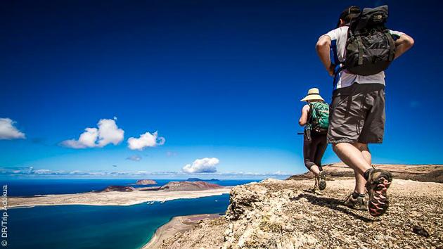 Randonnées au coeur du Parc Naturel de los Volcanes, et sur l'ile de la Graciosa aux Canaries